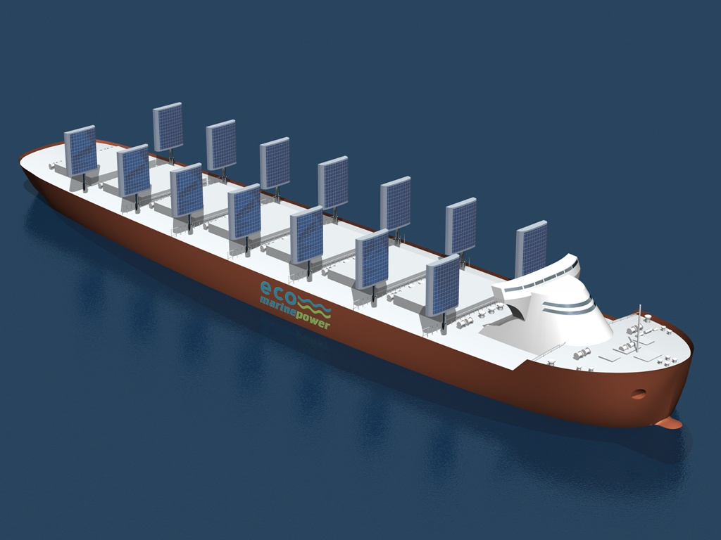 EnergySail Array on Eco Ship