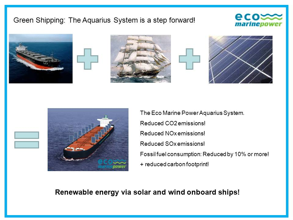 Green Shipping by Eco Marine Power