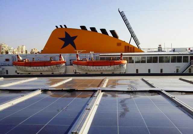 Marine Solar Power on Blue Star Delos